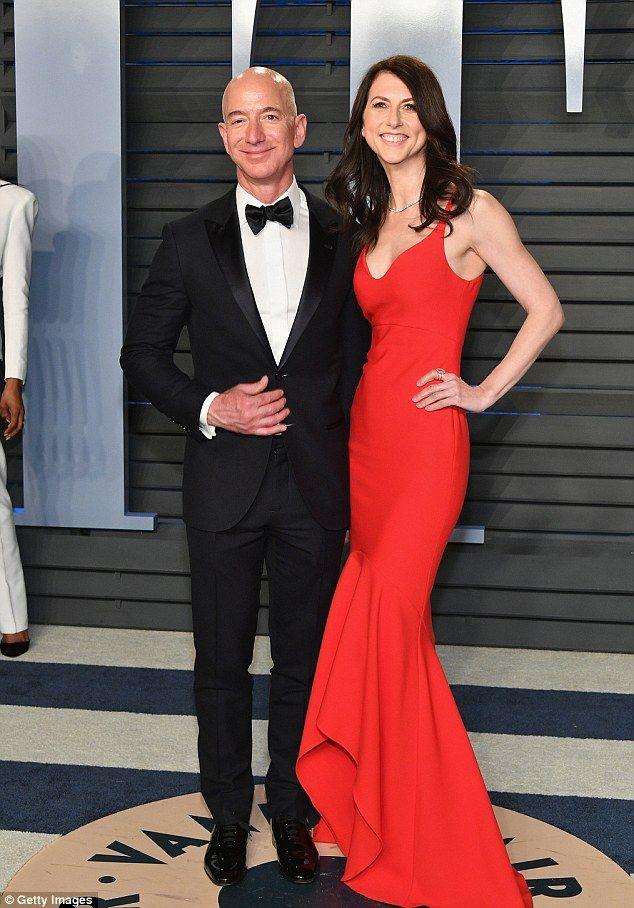 Amazon's Jeff Bezos joins stunning wife MacKenzie at Oscars bash
