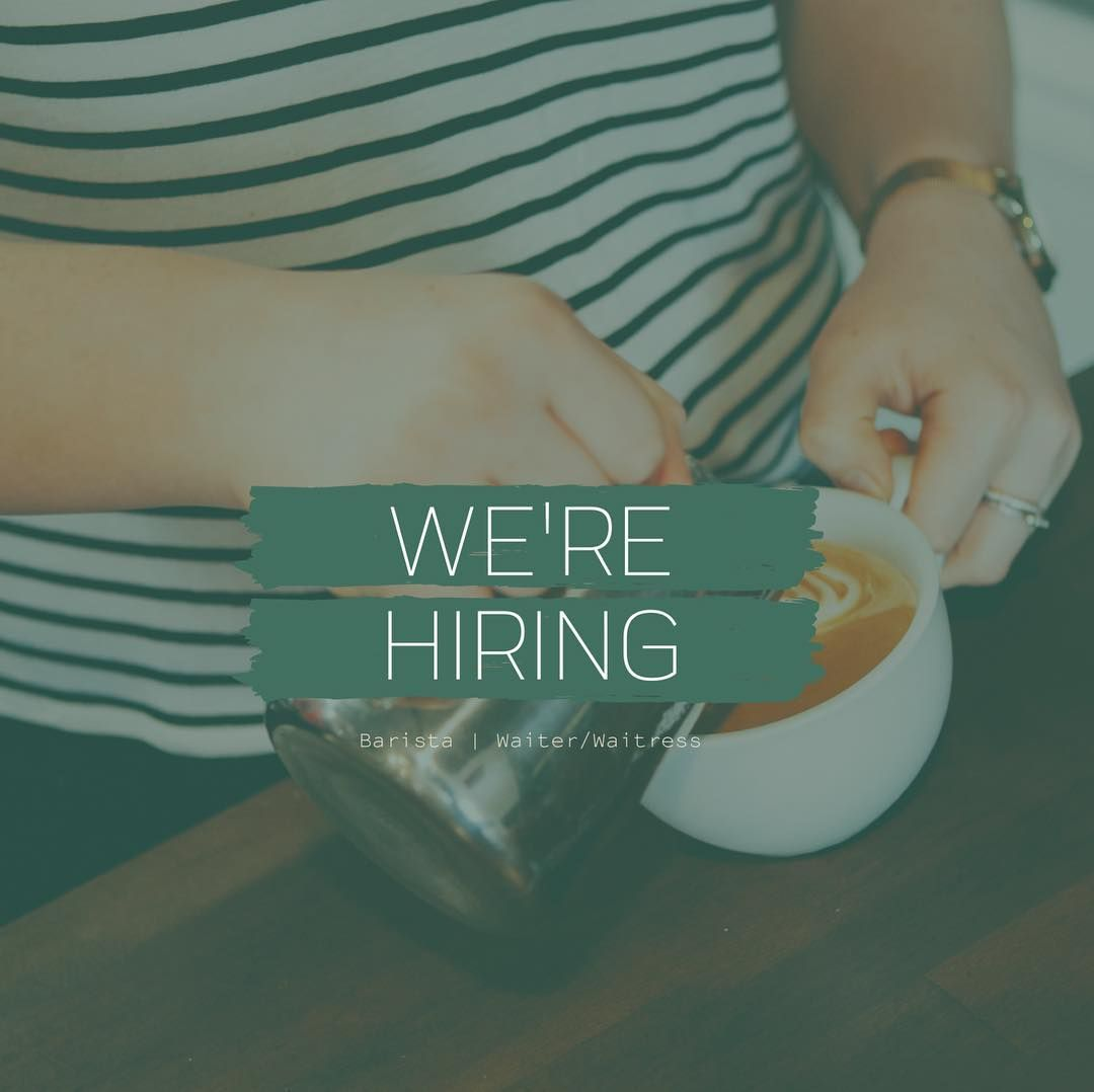 We are looking for an engaging and friendly Barista/Waiter