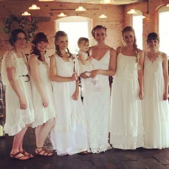 Wedding Entourage Hairstyle: The Bride And Her Entourage Look Absolutely Amazing. We