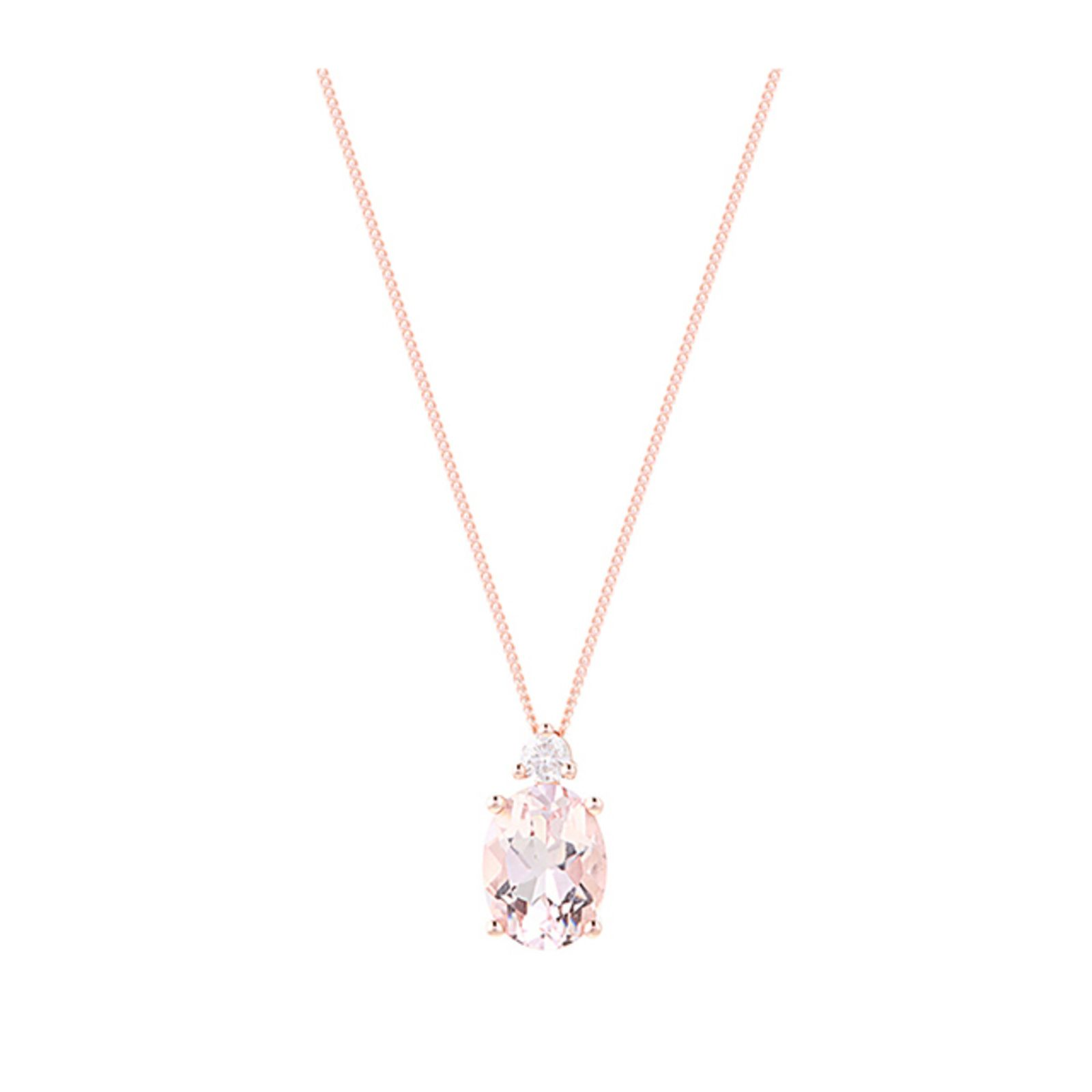 Ct rose gold morganite oval pendant love it girls pinterest