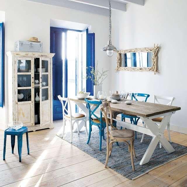 Arredare una cucina al mare - Area pranzo in stile marine | Cucina ...