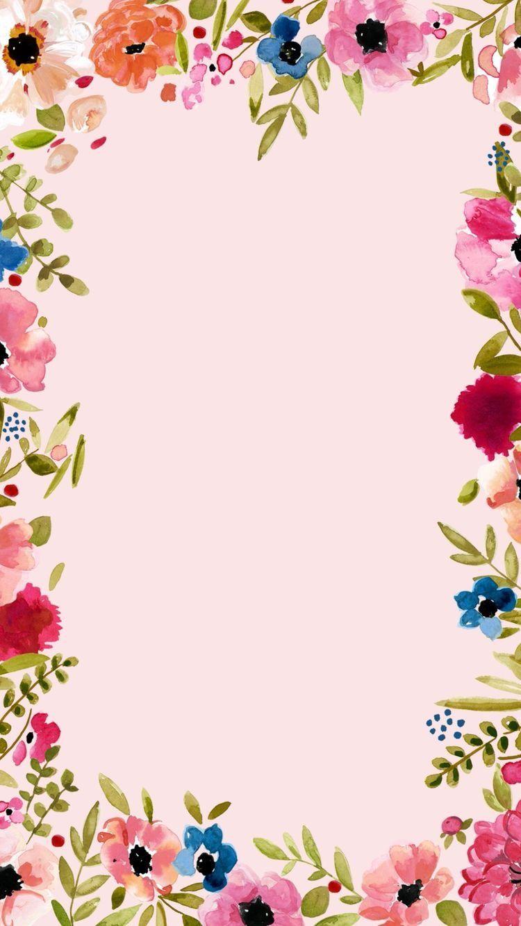 Iphone 6s Floral Background Floral Border Flower Backgrounds