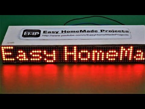 How To Make A Scrolling Text Display At Home Youtube Elektroniken Technik Elektro