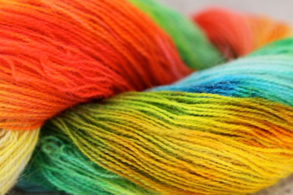 dye rainbow wool with food color and microwave tutorial finished ...
