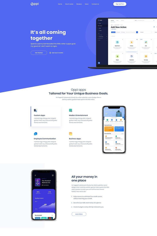 Oppi MultiNiche App Showcase WordPress Theme (With