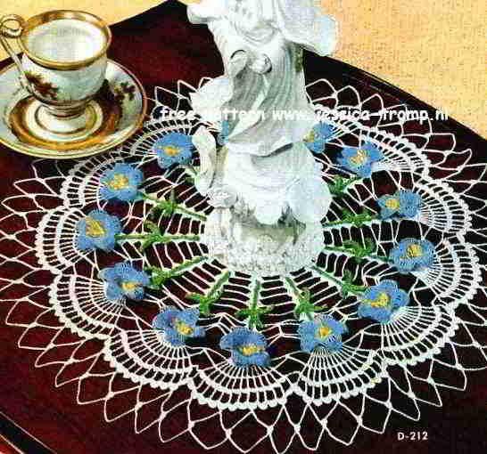 Blue Bell Doily Free Vintage Crochet Doilies Patterns Crochet