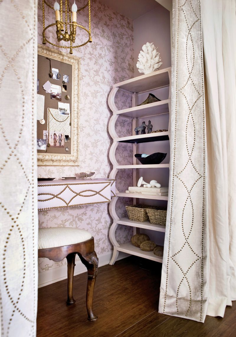 Dressing table behind curtains dressing table pinterest house