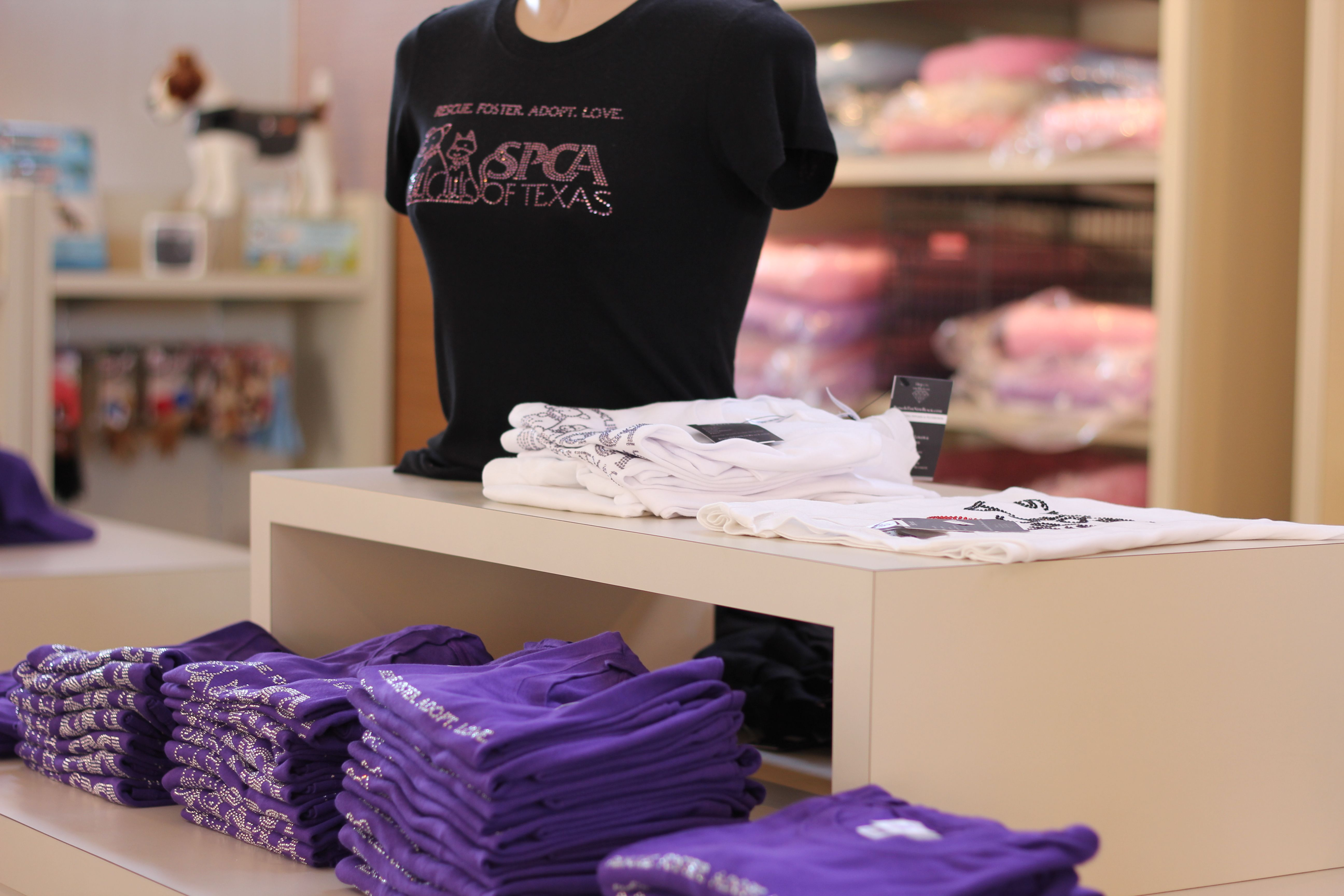 Bedazzled Spca Of Texas Shirts Can Be Purchased At The Spca Of Texas Inside The Jan Rees Jones Animal Care Center In Dallas Spca Texas Shirts Pet Care