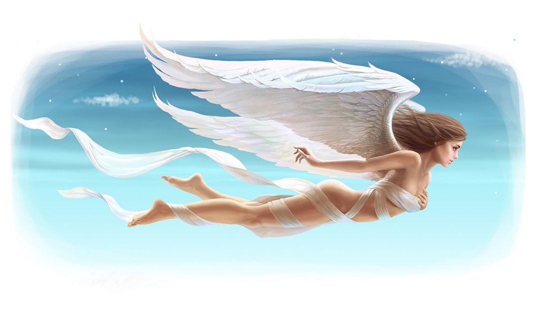 летающие ангелы картинки красиво прикрепляется