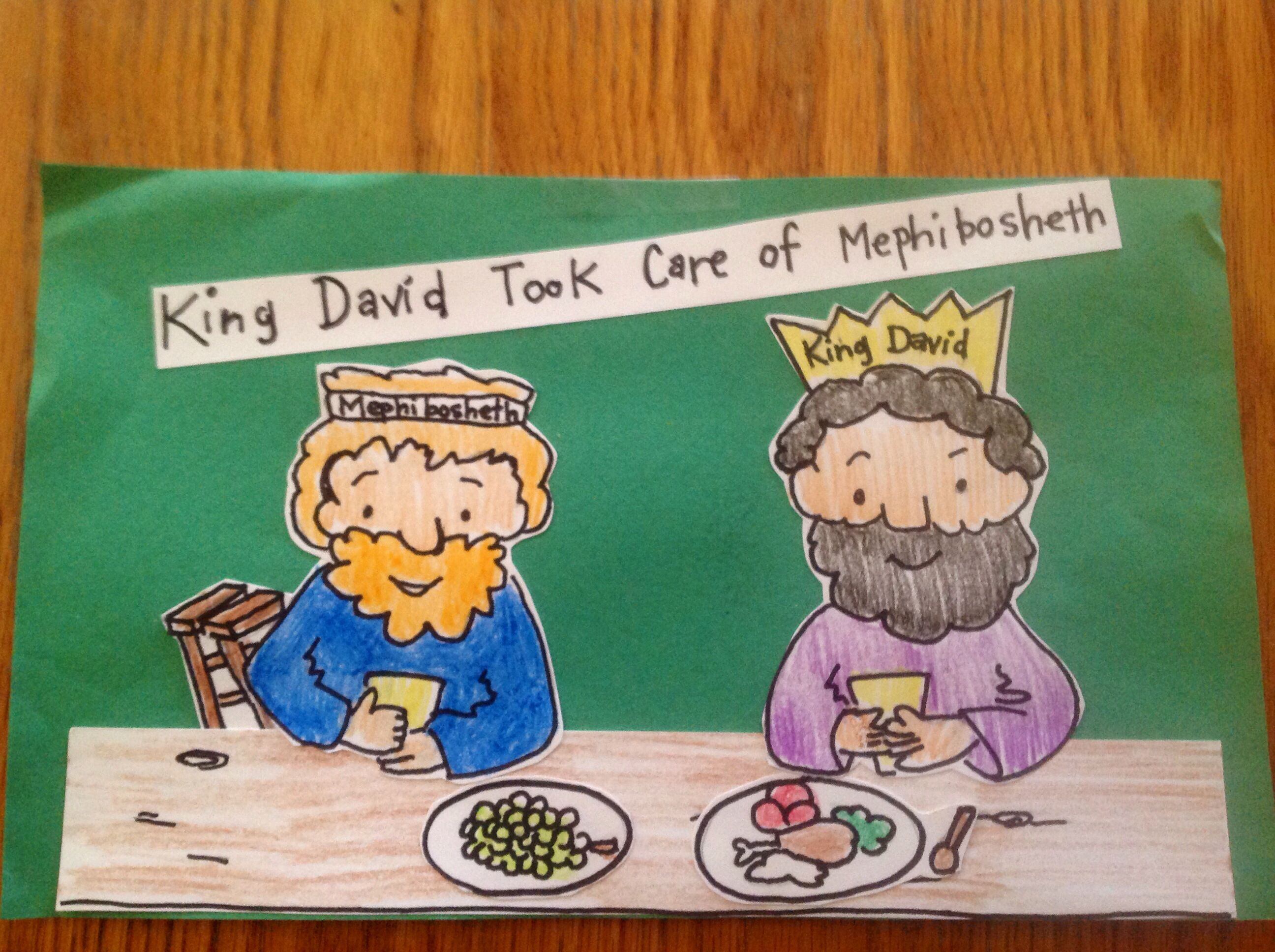 King David And Mephibosheth Bible Craft By Let