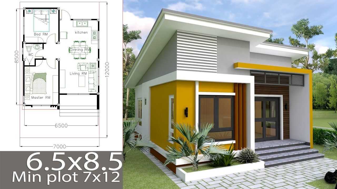 Small Home Design Plan 6 5x8 5m With 2 Bedrooms In 2019