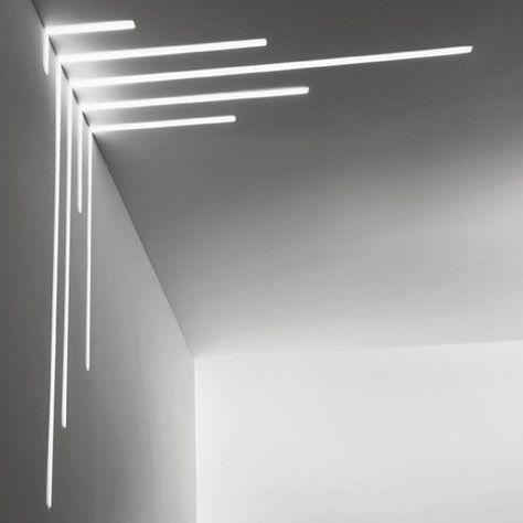 profil eclairant au plafond encastrable a led dimmable bright esse ci