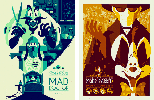 The Mad Doctor / Who Framed Roger Rabbit? Disney posters