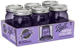 Amazon Kitchen Deal: Purple Heritage Collection Mason Jars just $10.99 for 6 - Mindfully Frugal Mom