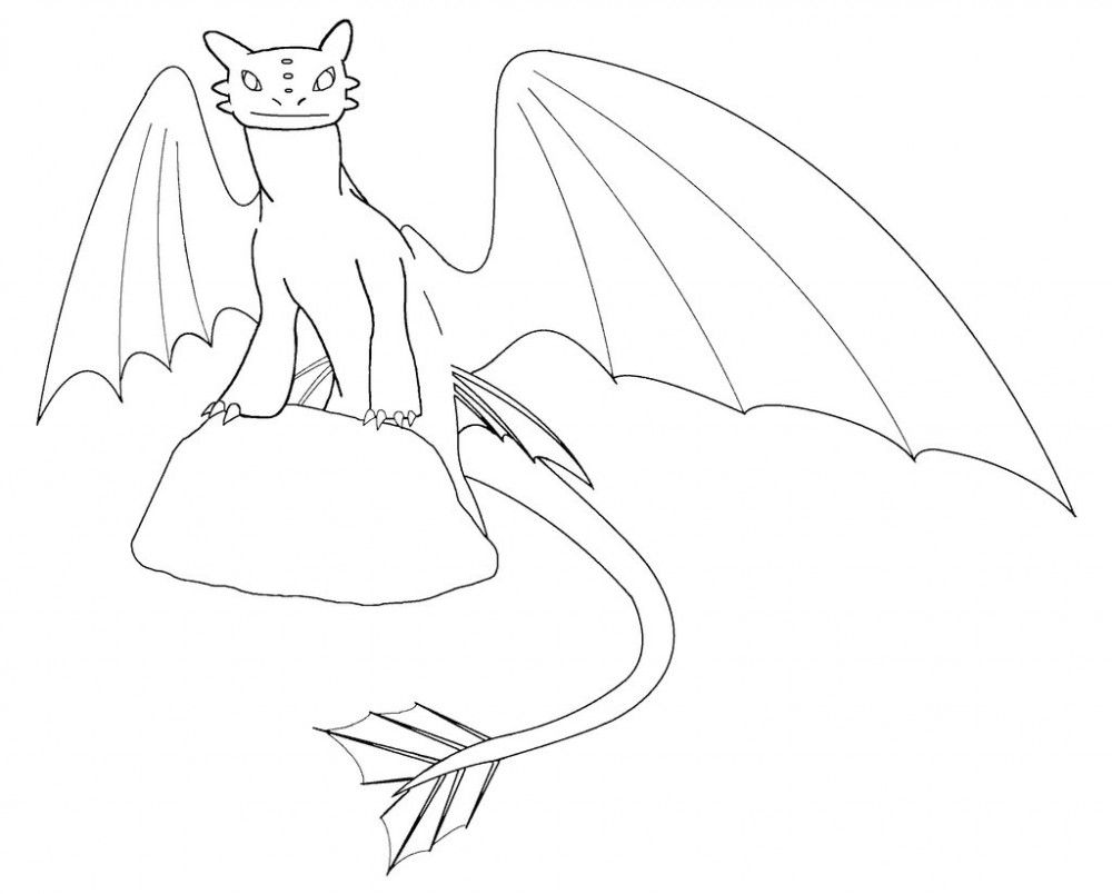 How To Train Your Dragon Coloring Pages Toothless How to train y... coloring