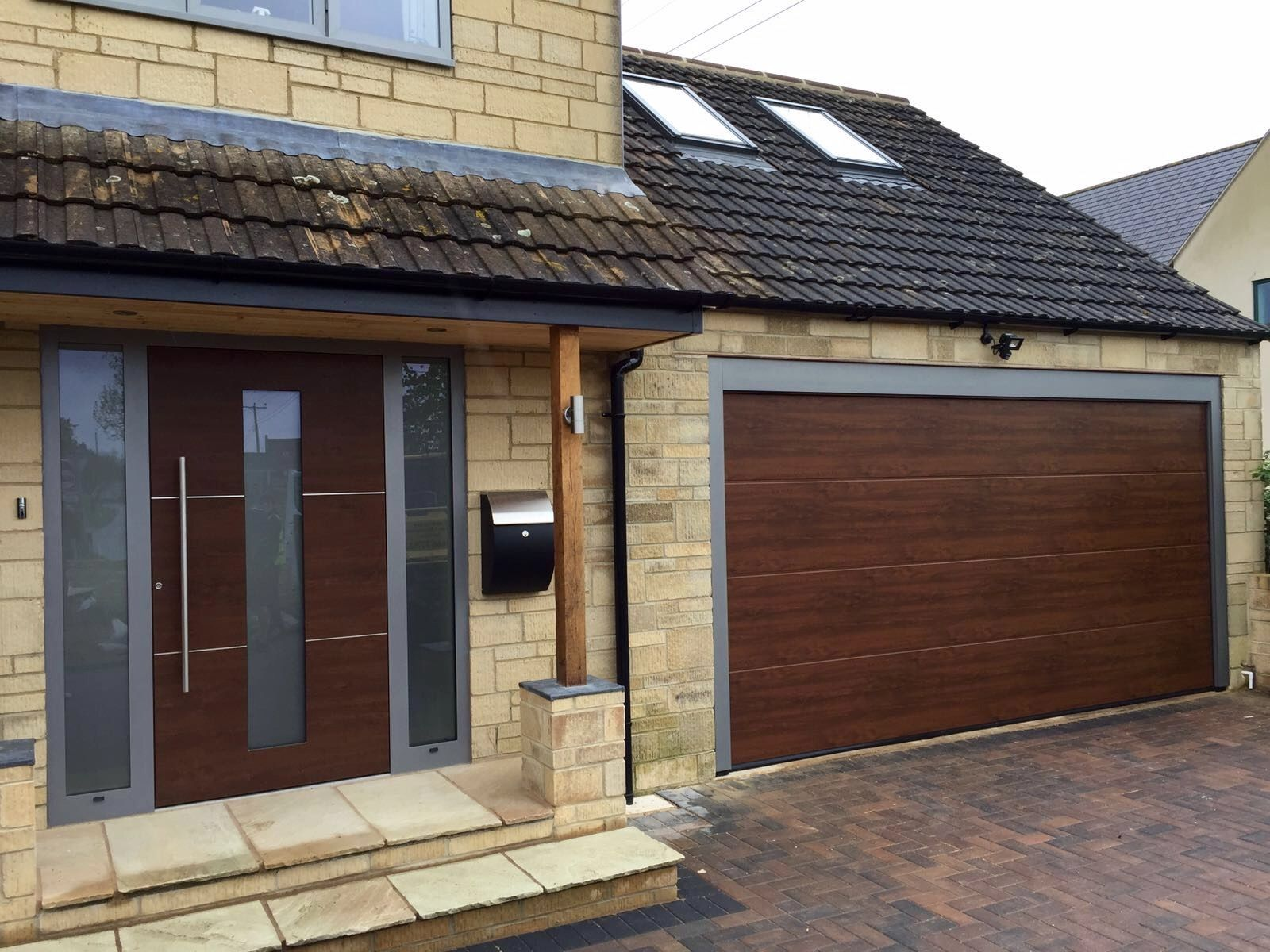 Rk100 Nut Brown Ral 9007 With Images Brown Doors Front