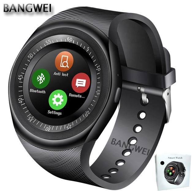 557f8c69cde BANGWEI 2018 New WristWatch Bluetooth Smart Watch Men Sport Pedometer –  CalifornieStore