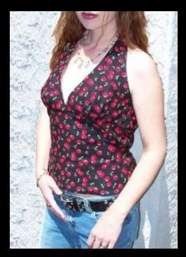Heartbreaker Fashion Becky Cherry Halter Top Only $27.00 through March 23, 2013 25%OFF Site Wide includes Clearance! ButtercupClothing.Net