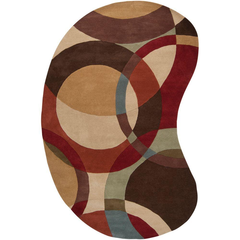 Artistic Weavers Seletar Brown 8 Ft X 10 Ft Kidney Area Rug Contemporary Area Rugs Modern Area Rugs Area Rugs
