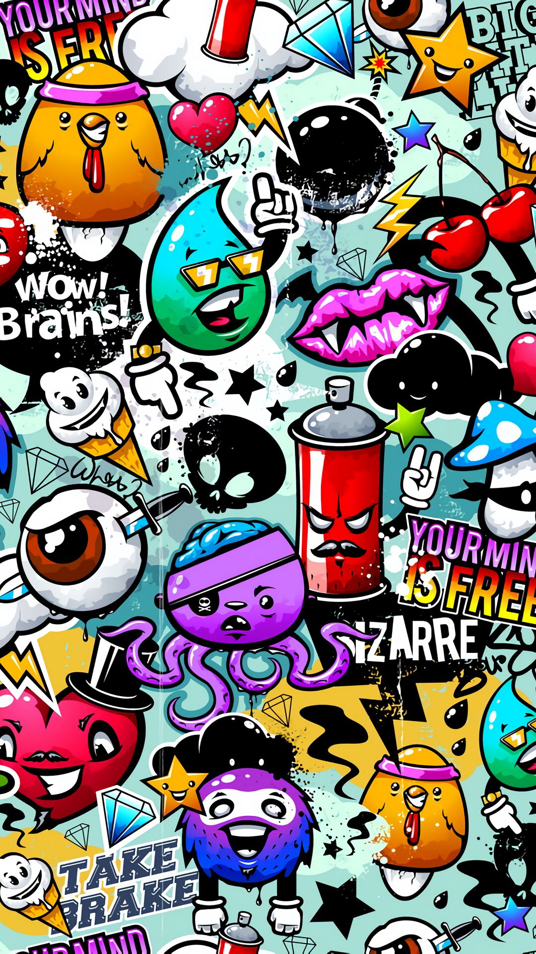 vector image by Adam danish Graffiti wallpaper iphone