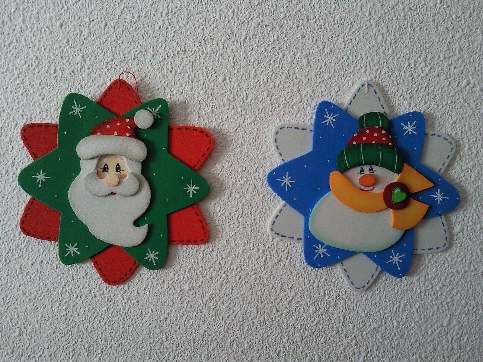 Adornos Navidenos Navidad Pinterest Navidad Goma Eva Navidad