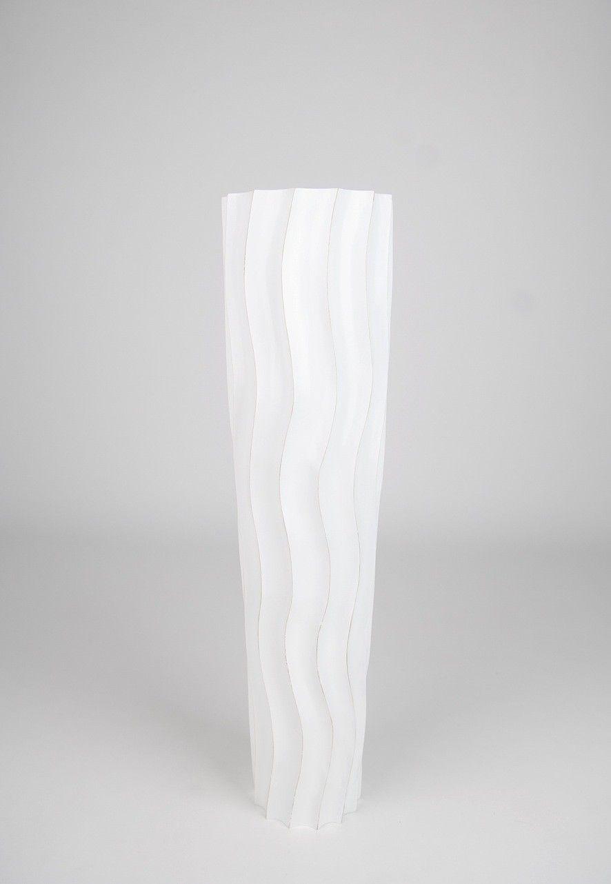 Leewadee Tall Big Floor Standing Vase For Home Decor 30 Inches Mango Wood White Wash Floor Vase Tall Floor Vases Floor Vase Decor