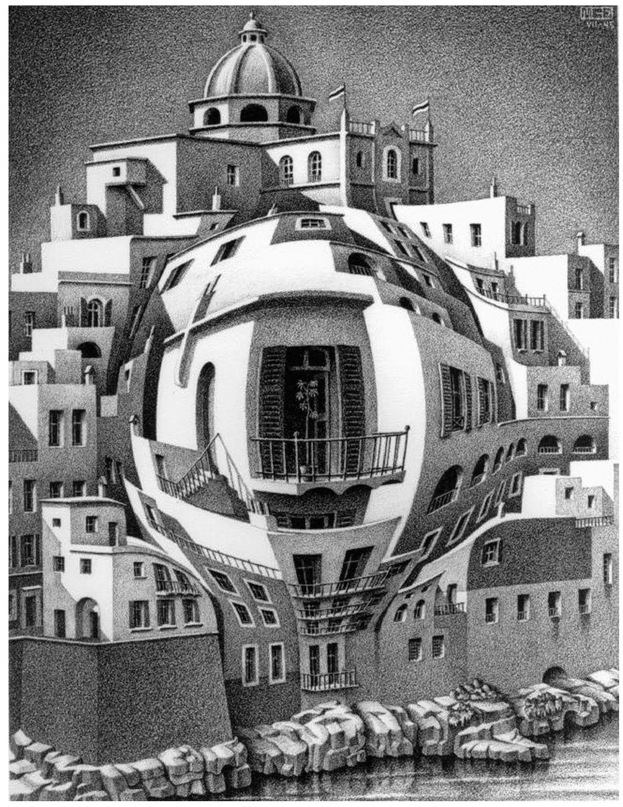 Mc Escher エッシャー 絵 騙し