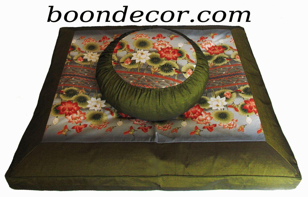 Meditation Cushion Zafu & zabuton Set - Limited Edition - Lotus ...