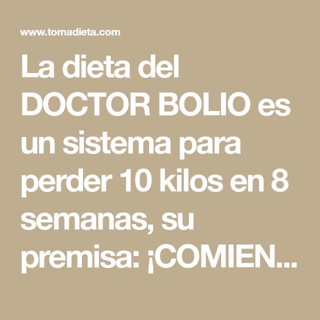 Dieta dr. bolio para bajar 10 kilos en una semana