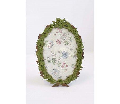 Shabby Cottage Green Floral Frame: Beautiful Botanical Frame Online - Plaid Parasol