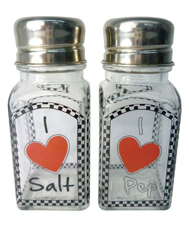 Loving this 'I Love' Salt & Pepper Shakers on #zulily! #zulilyfinds
