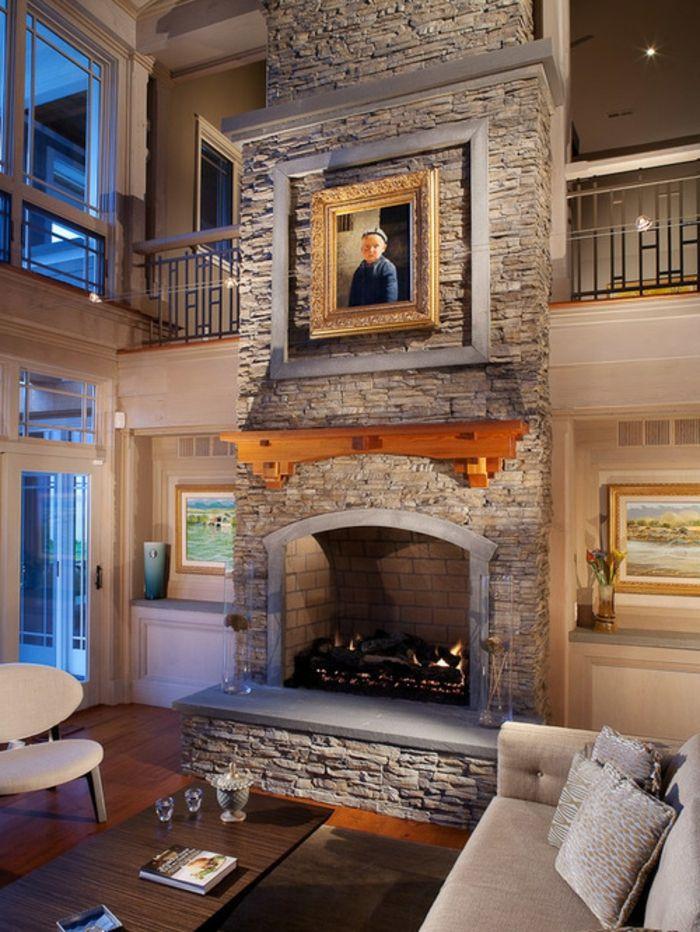 ▷ 1001+ Ideen zum Thema Offener Kamin/ Gemauerter Kamin - wohnzimmer ideen grau