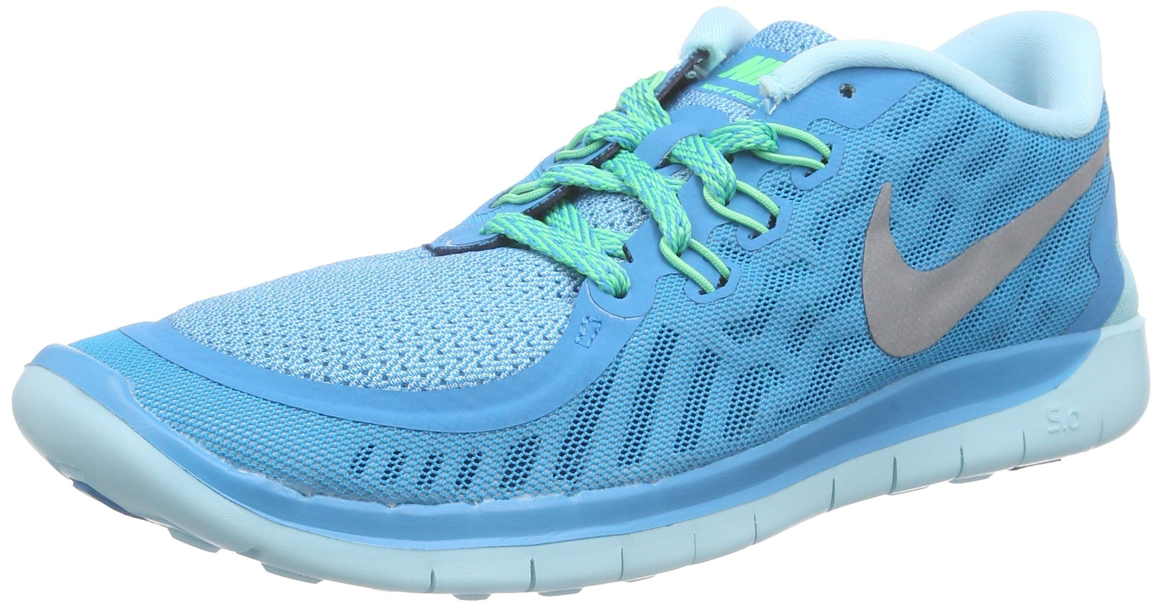 Nike Free 5.0 (GS) Blue Lagoon Metallic Silver 725114 404 (5