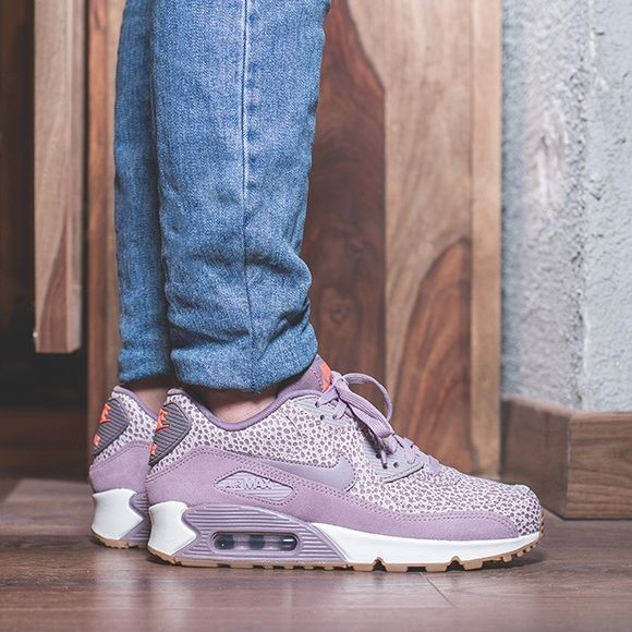 4ffb7f61d789a2 Nike Plum Fog Leather + Suede Air Max 90 Sneakers •The Nike Air Max 90  Premium Women s Shoe is super-comfortable and features the same cushioning  that s ...