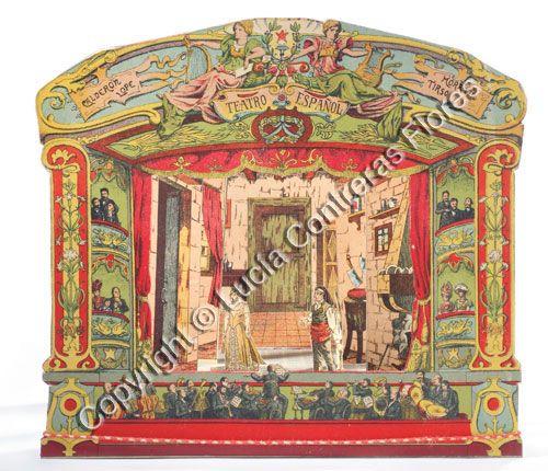 "Teatro""TEATRO ESPAÑOL"" PALUZIe  Year: 1901  Provenance: Spaincollection of Lucia Flores.     http://www.teatritos.com/"
