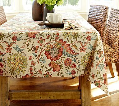 Cora Kalamkari Tablecloth From Pottery Barn