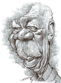 Artist:Jan Op De Beeck   Caricature:Morgan Freeman