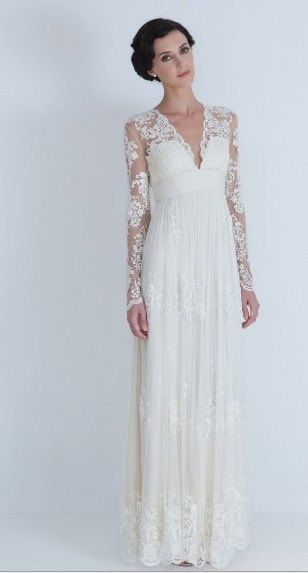 New white/ivory Column Lace Bridal Wedding Dress Custom Size 2-18+++ ...