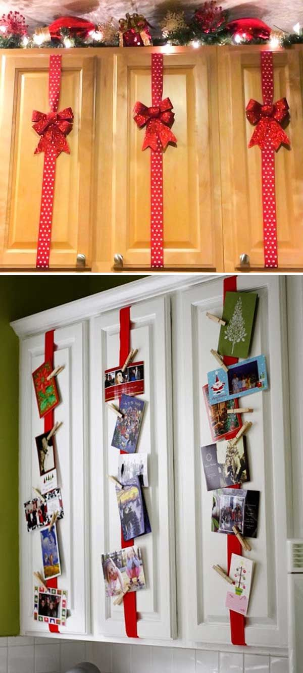 tip of the day monday christmas cabinet a great way to decorate your kitchen cabinets on kitchen cabinets xmas decor id=34748