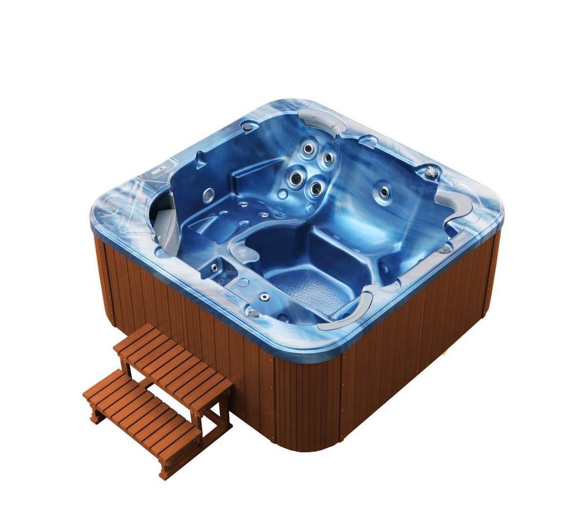 Whirlpool Torina Ozeanblau Und Teak Shop Saunaloft De In 2020 Whirlpool Unterwasserbeleuchtung Farblichttherapie