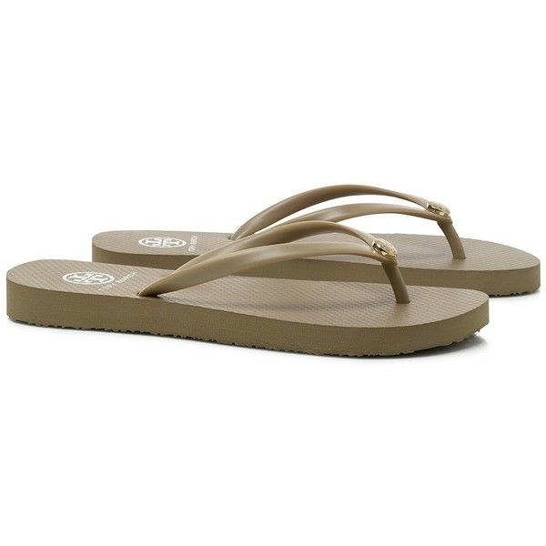 670875a9263cdf Tory Burch Thin Enamel Flip Flops ( 50) ❤ liked on Polyvore featuring shoes
