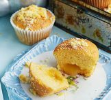 St Clement's curd muffins