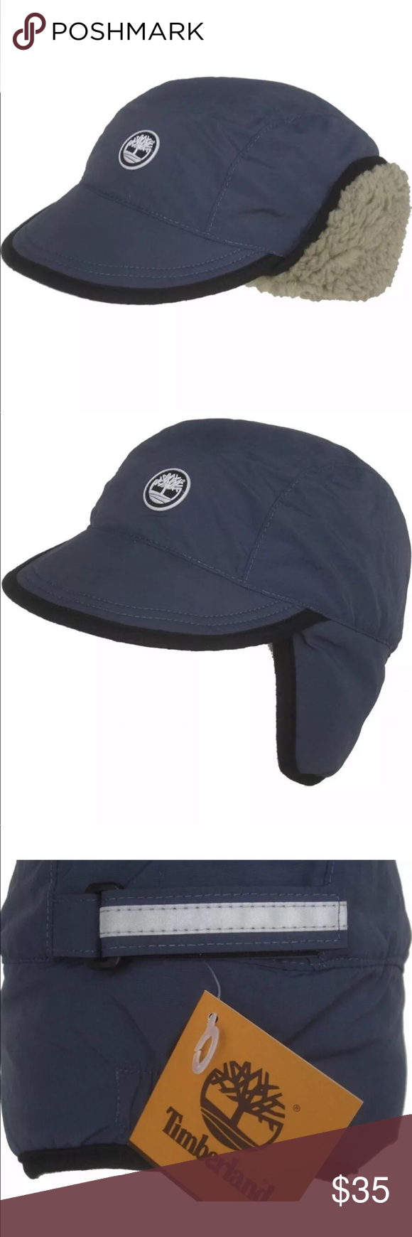 ad819cb4 TIMBERLAND Water Resistant Ear Flap Trapper Hat NEW TIMBERLAND Water  Resistant Ear Flap Hat Visor Trapper