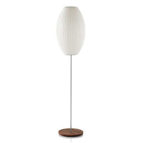Nelson Cigar Lotus Floor Lamp In 2020 Floor Lamp Lamp Nelson Bubble Lamp