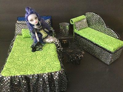 Monster High furniture Bedroom setSirenaBedsofalampwood Box