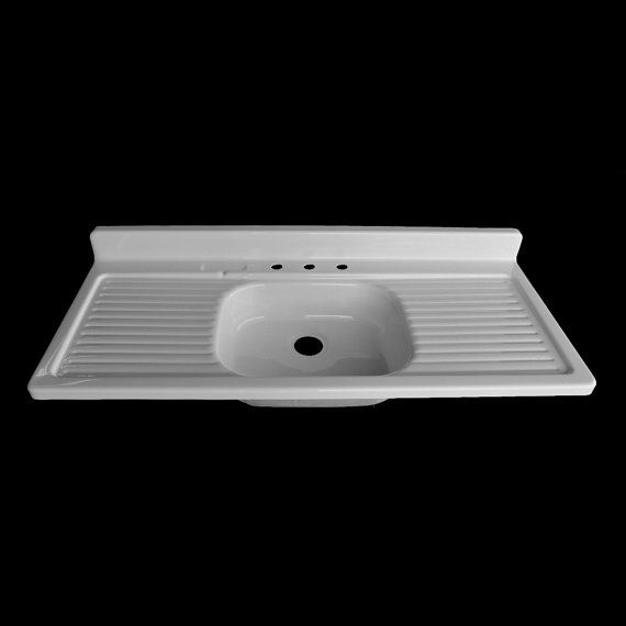 54 X 24 Single Bowl Double Drainboard Farmhouse Sink
