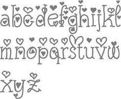 Cute Fonts Alphabet Handwriting