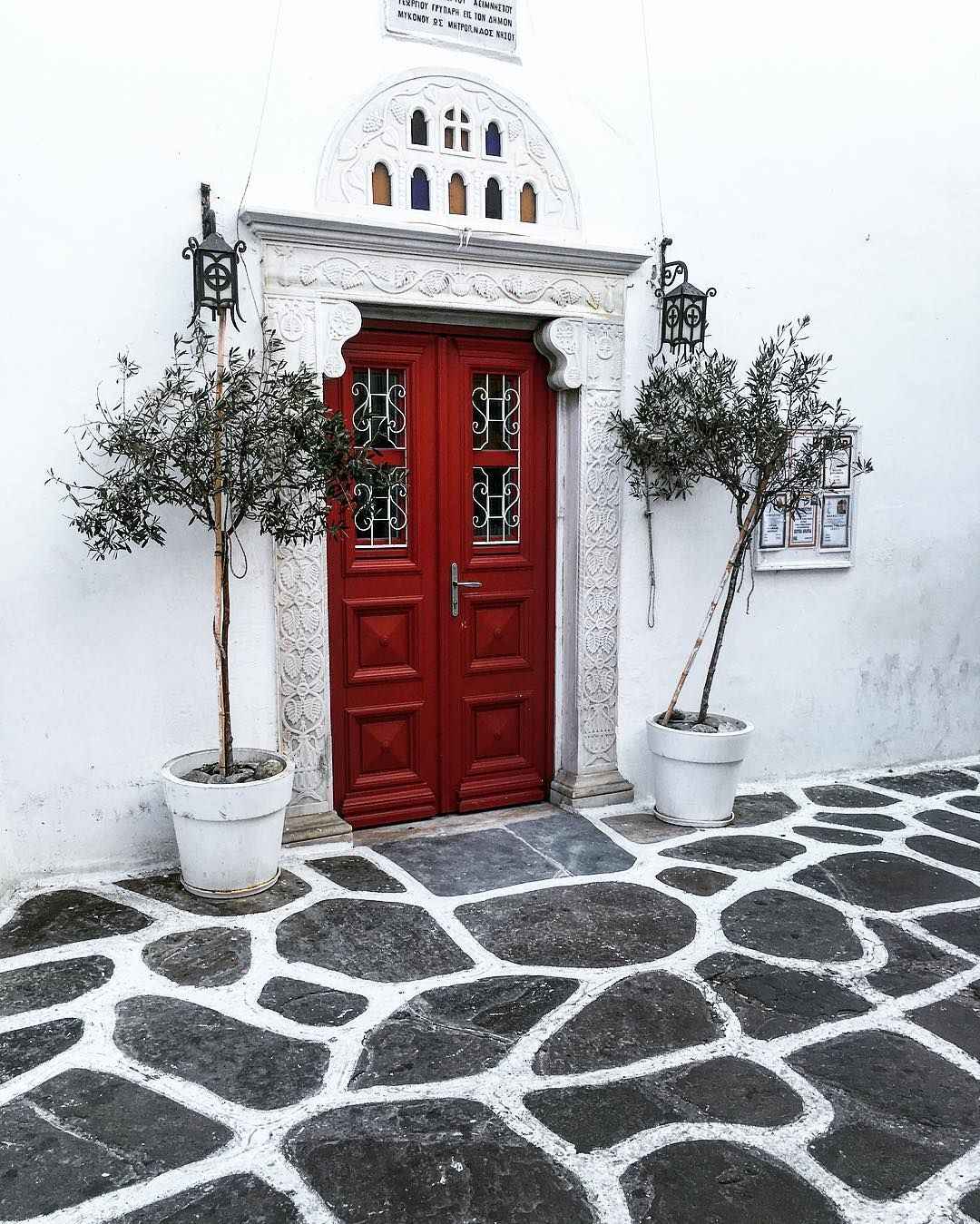 ~Crimson Door to God ~ #streetsofmykonos #daytripping #contrasts #thereissomecharmleft #blackandwhite #greeksummers #churches #doorways #travelsplendor ... & Crimson Door to God ~ #streetsofmykonos #daytripping #contrasts ...