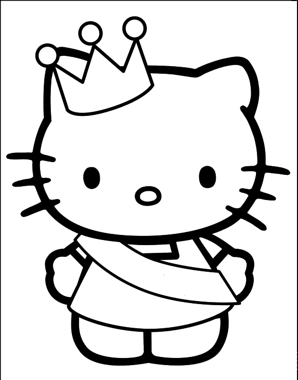 Hello Kitty Color Pages | Princesse Hello Kitty Coloring Pages Hello Kitty Cartoon Coloring
