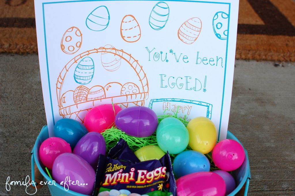 You've been egged!  via Family Ever After